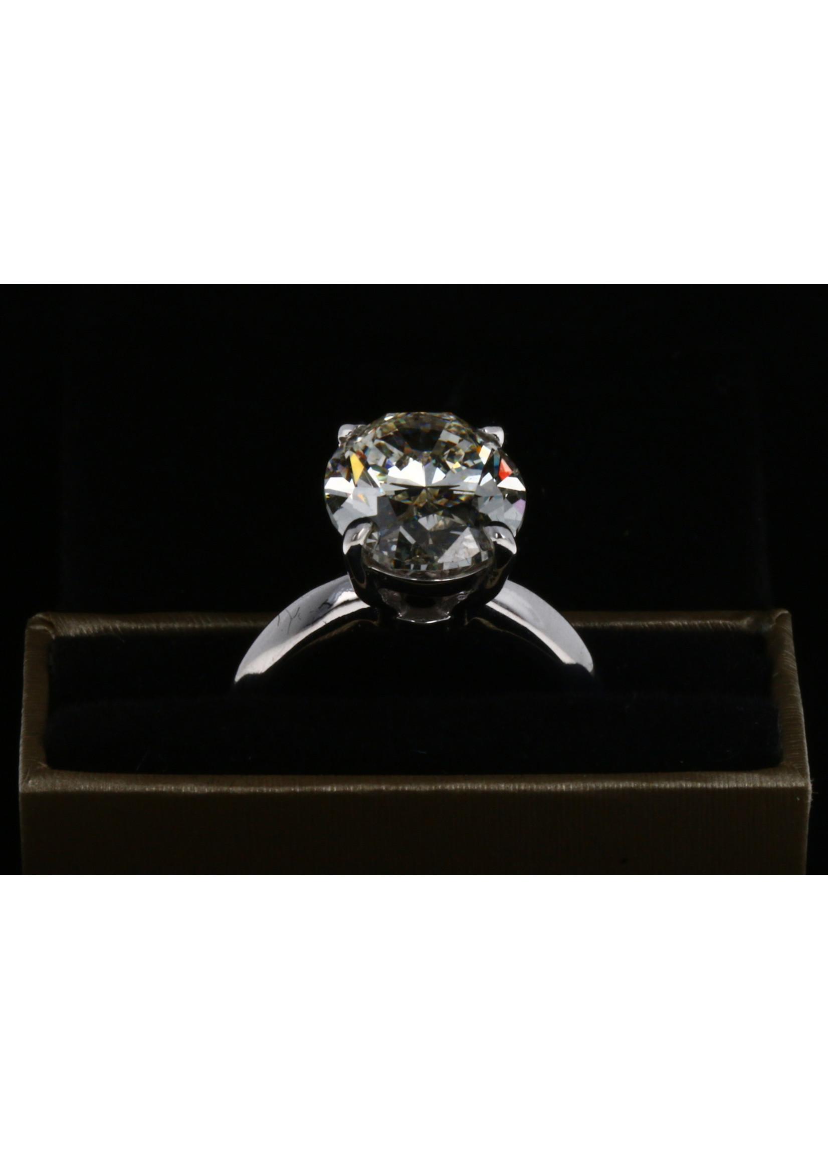3.13 CT ROUND CUT DIAMOND RING VS2-E