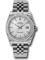 Rolex ROLEX DATEJUST 36MM #116244 (2008 B+P) BRAND NEW NEVER WORN