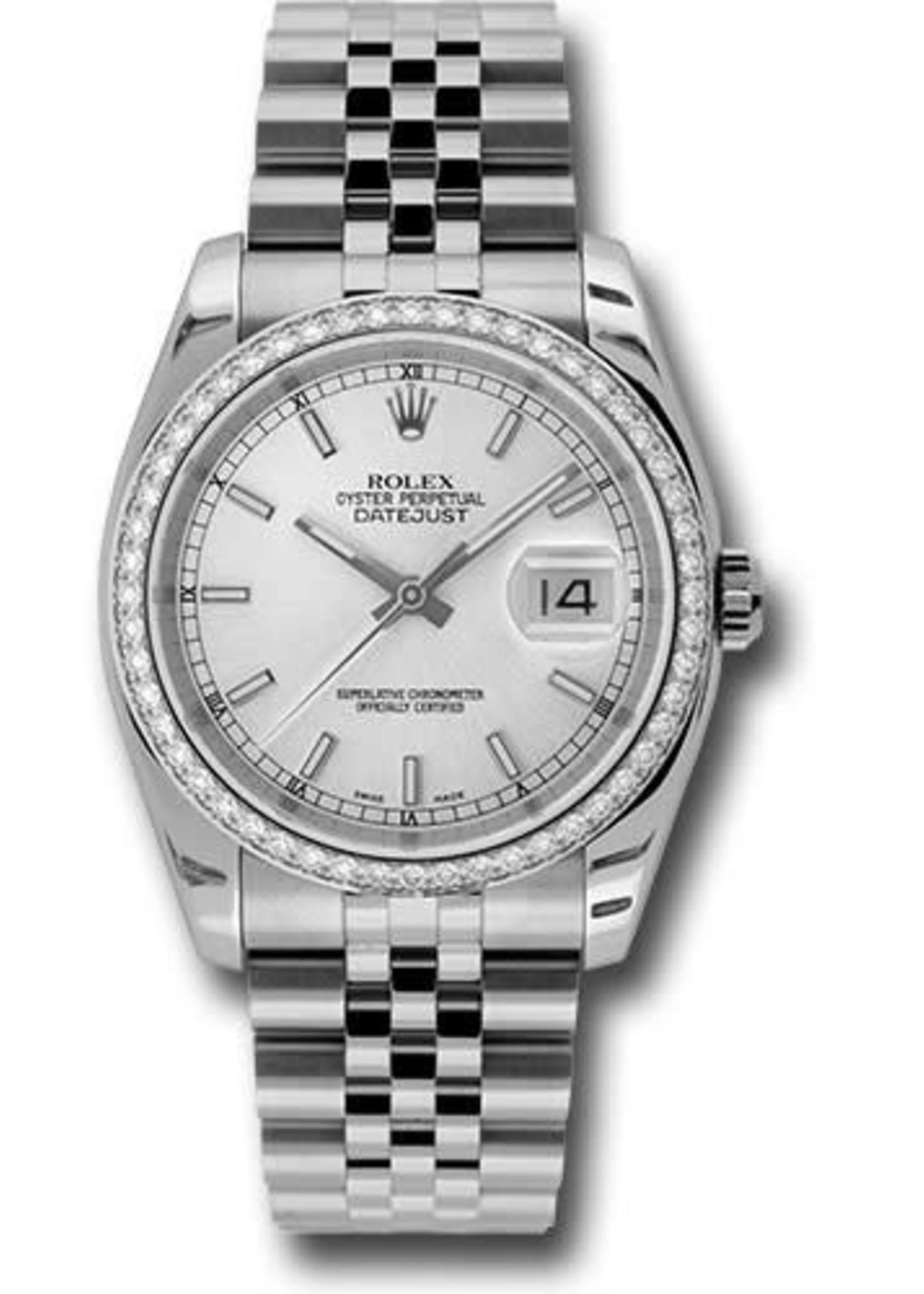 Rolex Watches ROLEX DATEJUST 36MM #116244 (2008 B+P) BRAND NEW NEVER WORN
