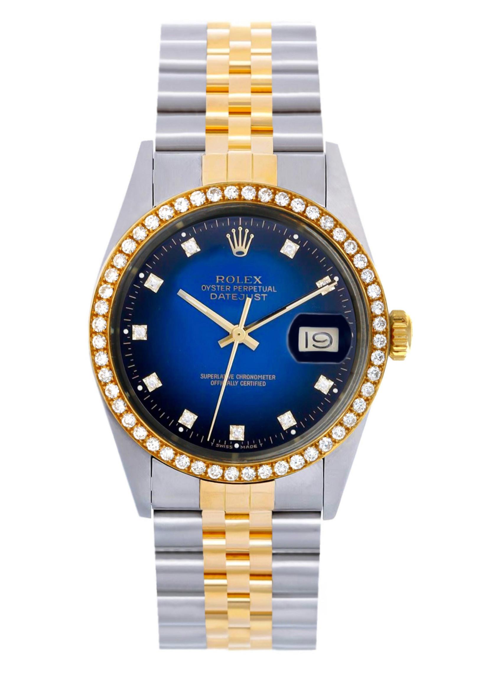 Rolex ROLEX DATEJUST 36MM BLUE DIAMOND DIAL (1984) #126233