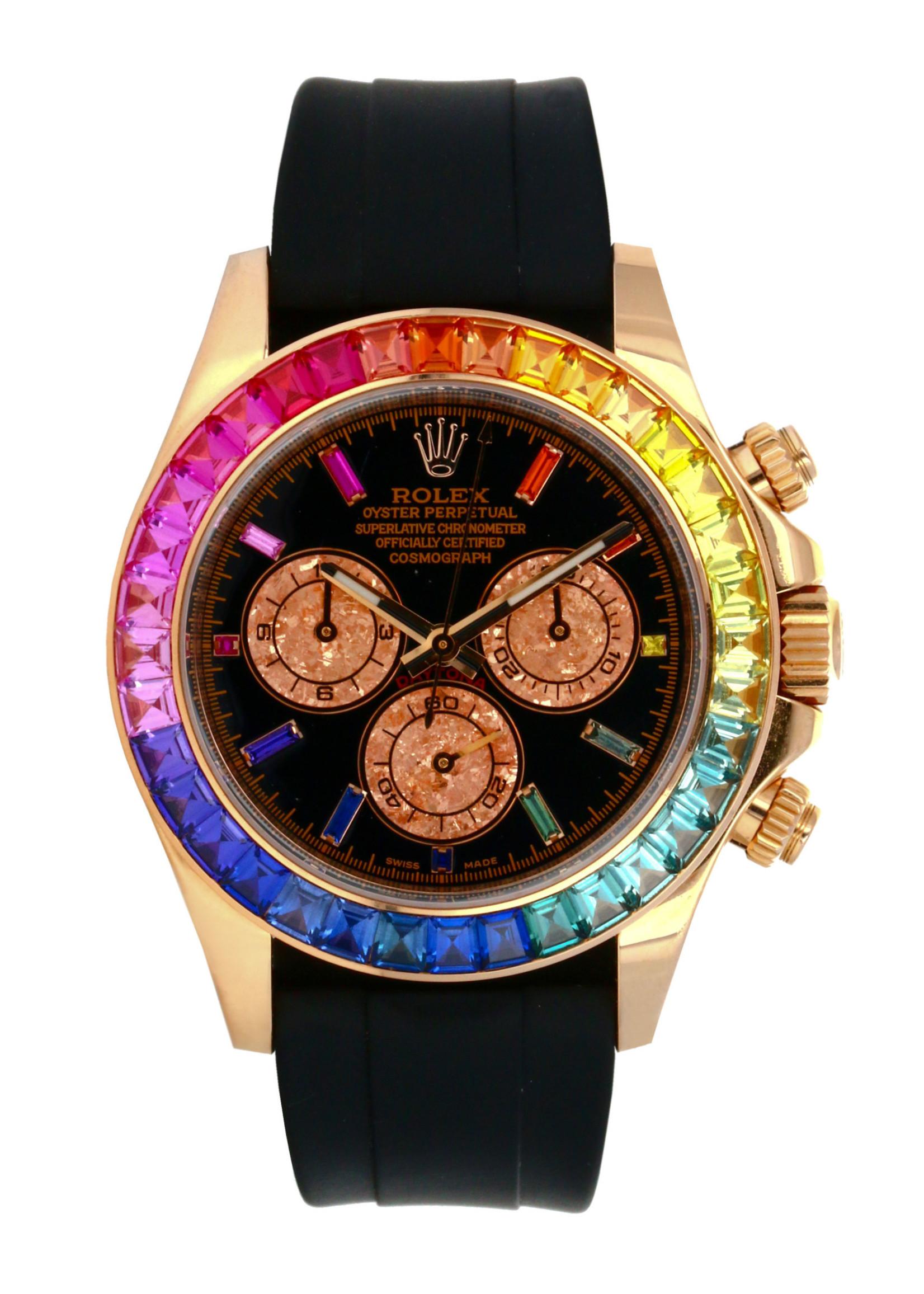 Rolex Watches ROLEX DAYTONA 40MM CUSTOM RAINBOW DIAMONDS