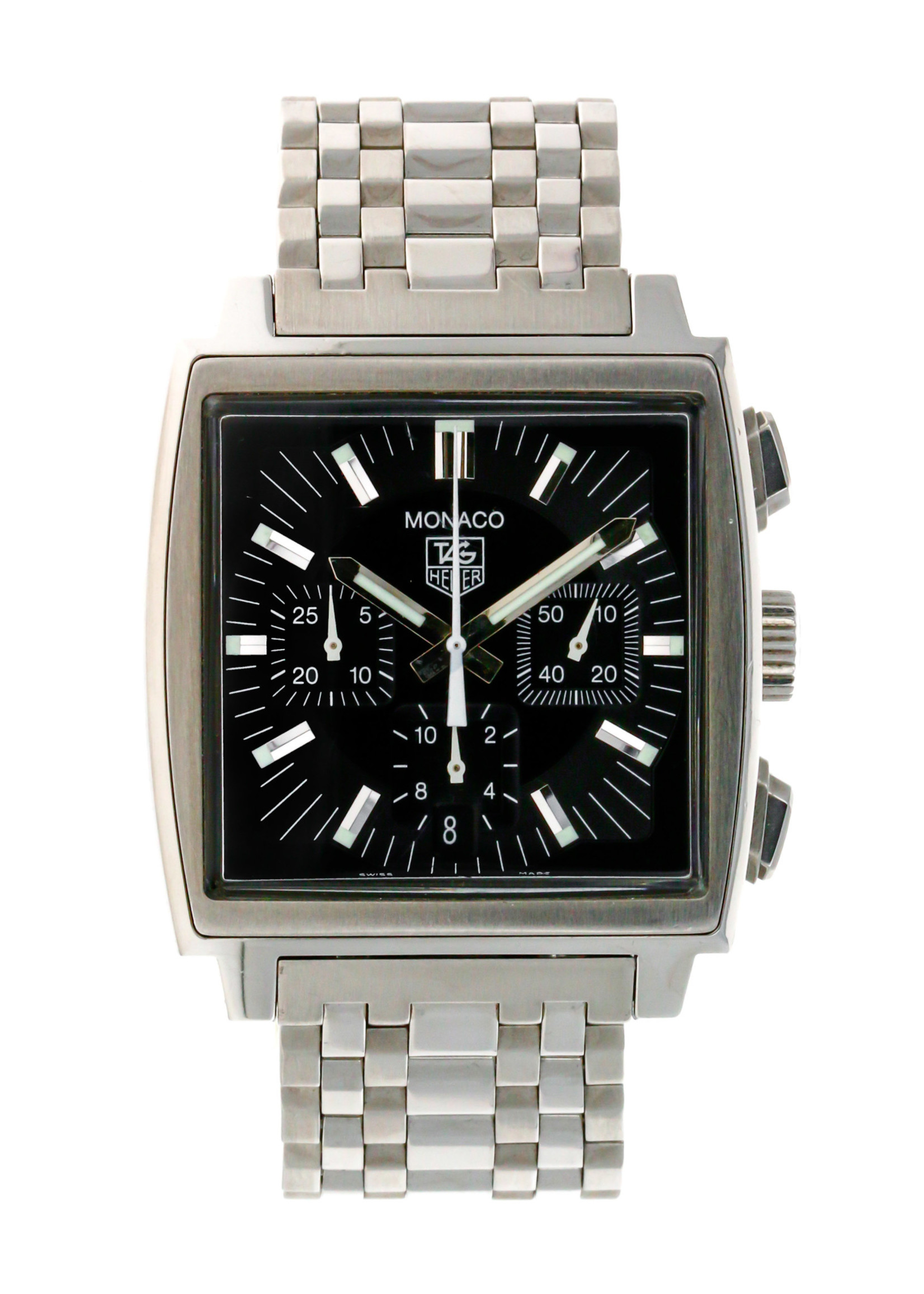 Tag Heuer Watches TAG HEUER STAINLESS STEEL MONACO BLACK