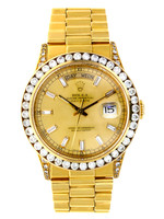 Rolex ROLEX DAY-DATE 36MM YELLOW GOLD (1986 B+P) #22838348