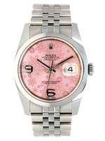 Rolex ROLEX DATEJUST 36MM PINK FLORAL JUBILEE #116200