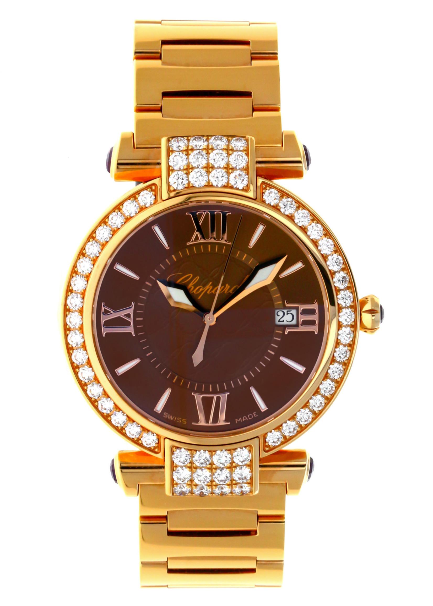 CHOPARD CHOPARD IMPERIALE 36MM 18K ROSE GOLD & DIAMONDS (B+P) #4221