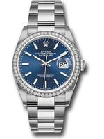 Rolex Watches ROLEX DATEJUST 36MM CUSTOM DIAMOND BEZEL