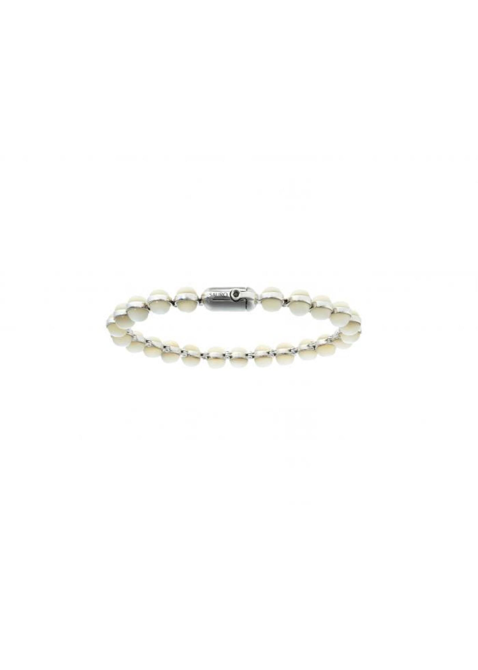 SAURO SAURO Minisphera White Mother of Pearl Bracelet #358