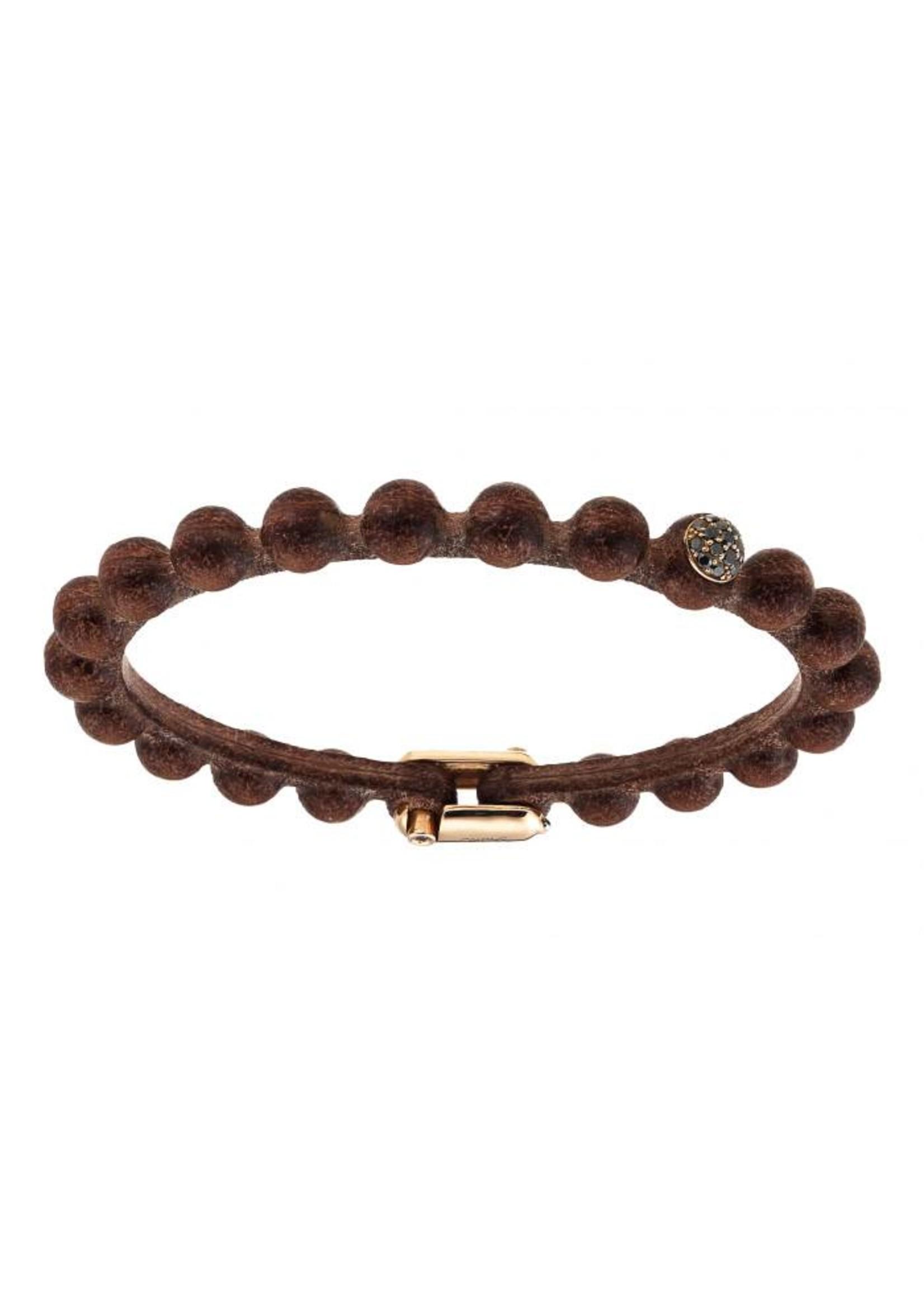 SAURO SAURO Big Leather Diamond Bracelet 368