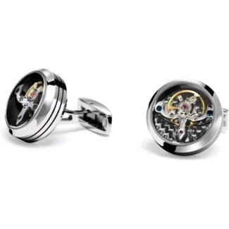 TF CUFFLINKS TF CUFFLINK CT-SS01 TOURBILLION STAINLESS STEEL BLACK CARBON