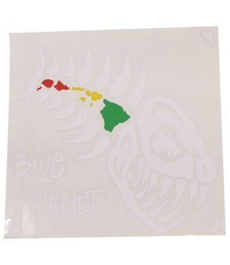"""Blue Planet Die-Cut Medium Sticker (4.5"""") - White"""