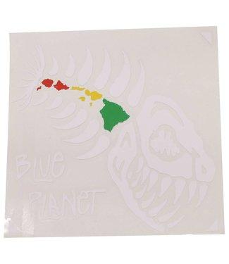 "Blue Planet Die-Cut X-Large Sticker (8"") - White"