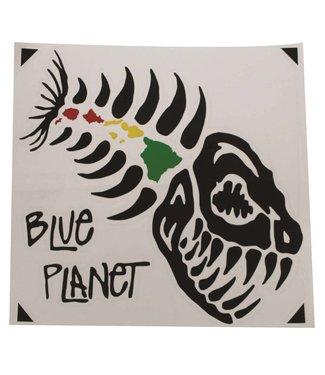 "Blue Planet Die-Cut X-Large Sticker (8"") - Black"