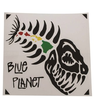 "Blue Planet Die-Cut Medium Sticker (4.5"") - Black"