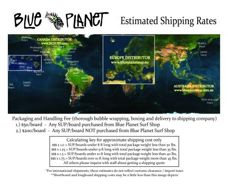 Shipping Information - Local, Domestic and International