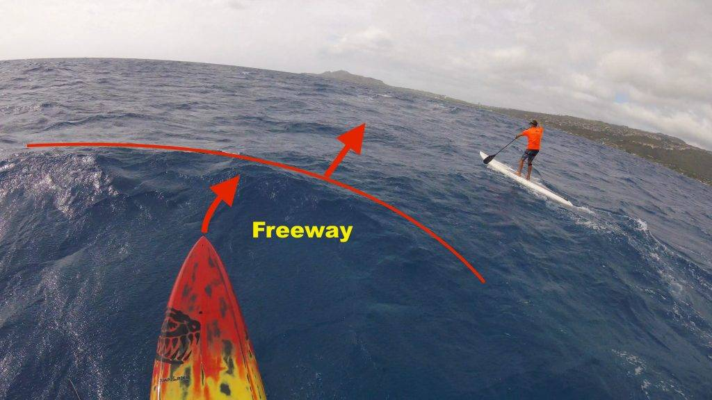 SUP Downwind Tips - Connecting Bumps by Using the On Ramp