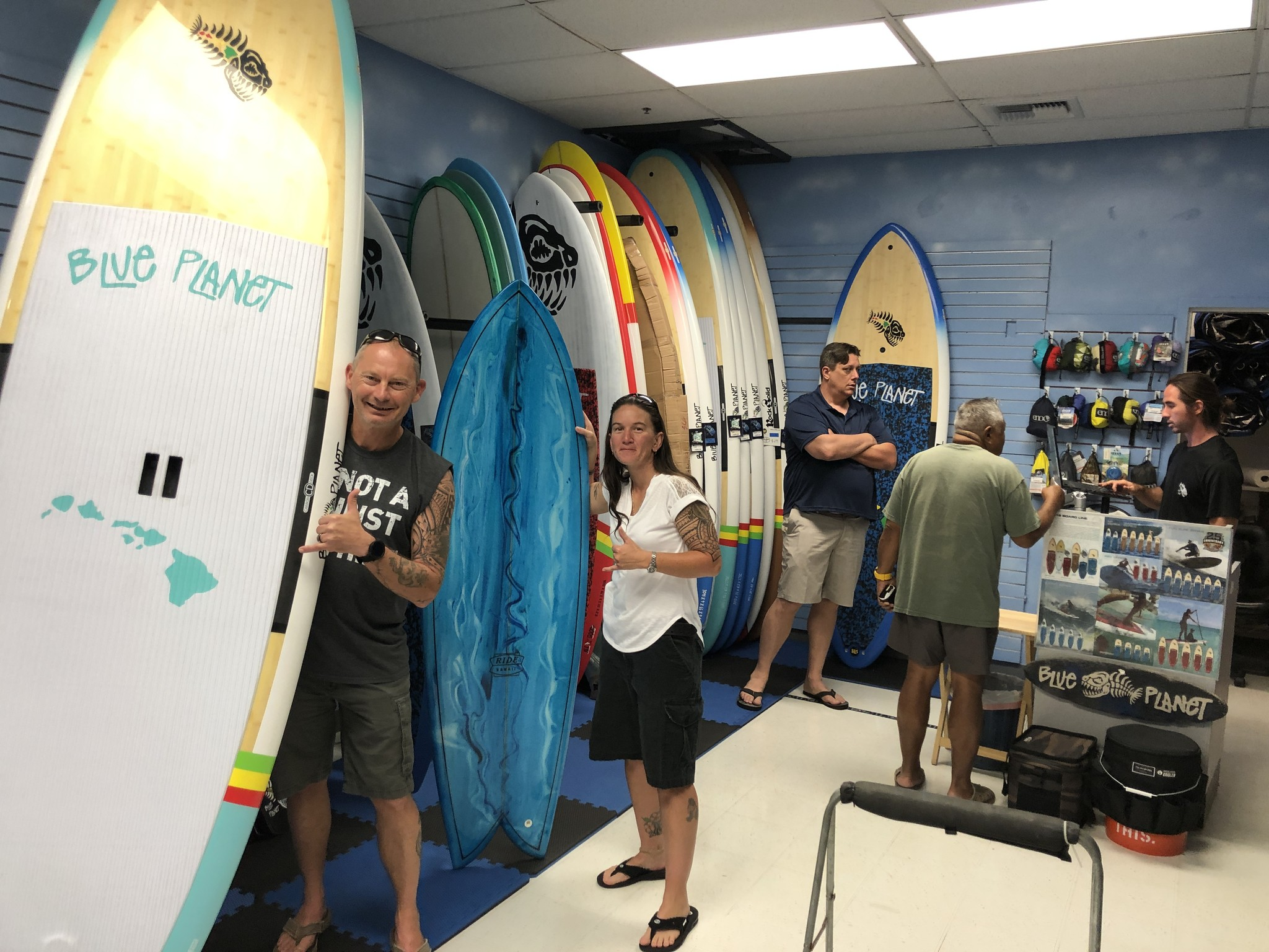 Our first customers with their new boards, mahalo Tammy and Mark!