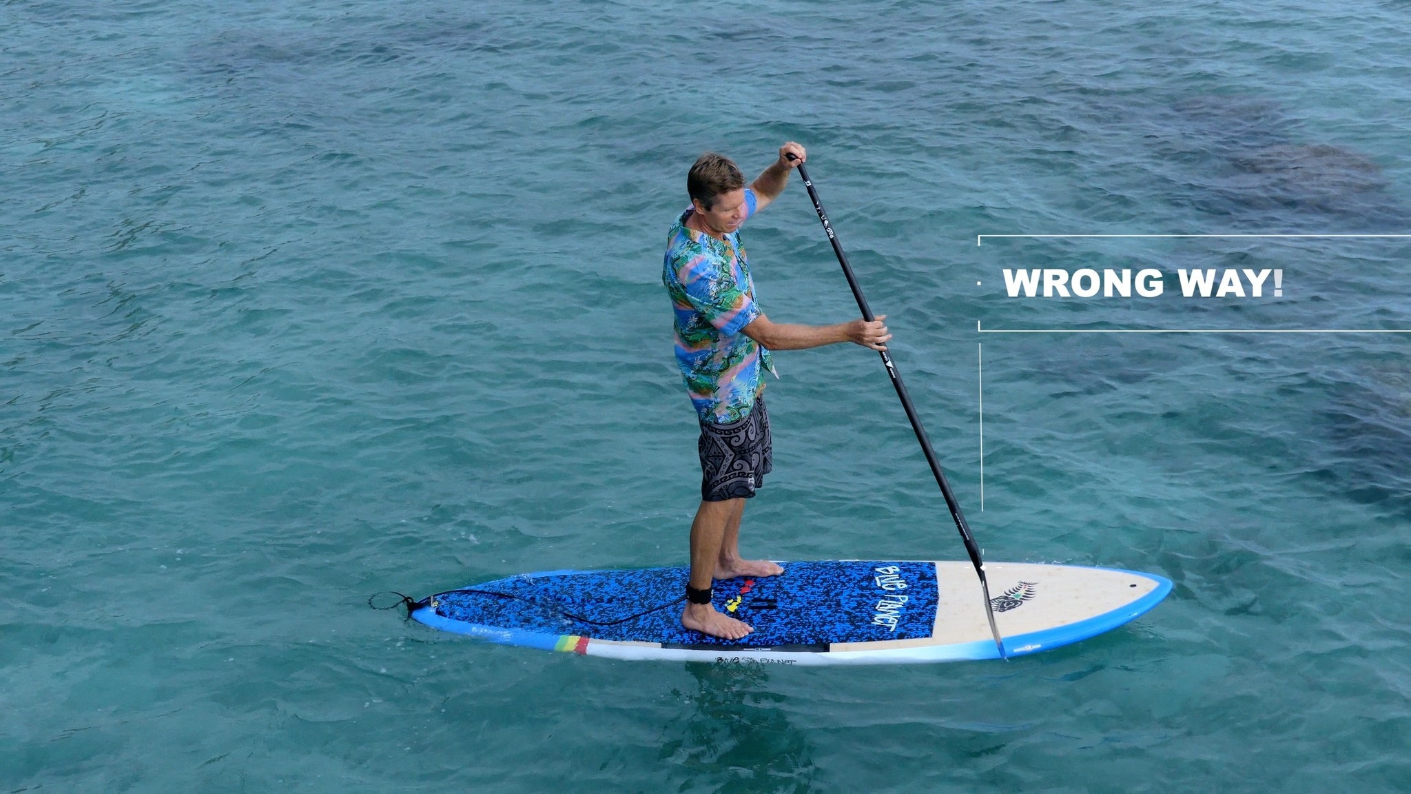 How to SUP holding the paddle the wrong way