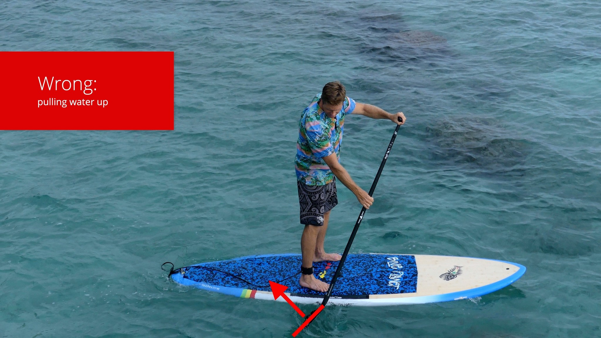 How to SUP wrong way to hold paddle