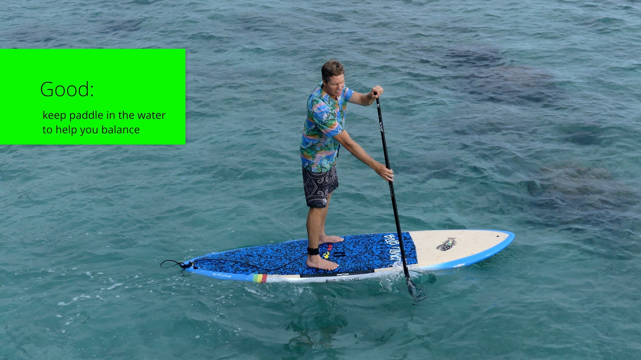 how to sup use paddle for balance