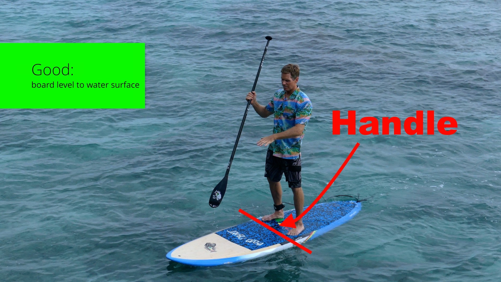 How to stand up paddleboard weight in center by handle