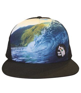 "Blue Planet ""Find Paradise"" Molokai Wave Trucker - Black Bill"