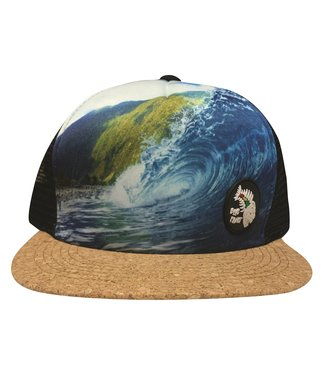 "Blue Planet ""Find Paradise"" Molokai Wave Trucker - Cork Bill S/M"