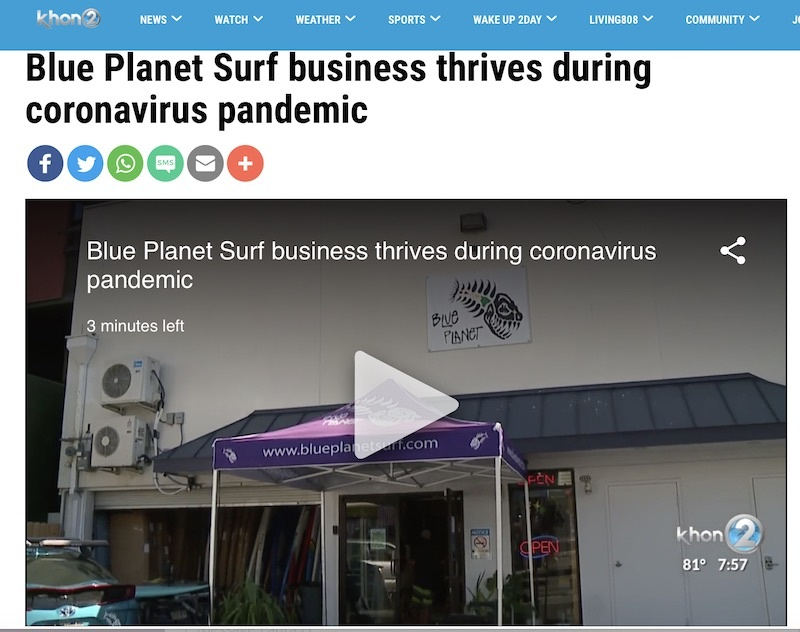 Blue Planet featured on nightly news and in newspaper