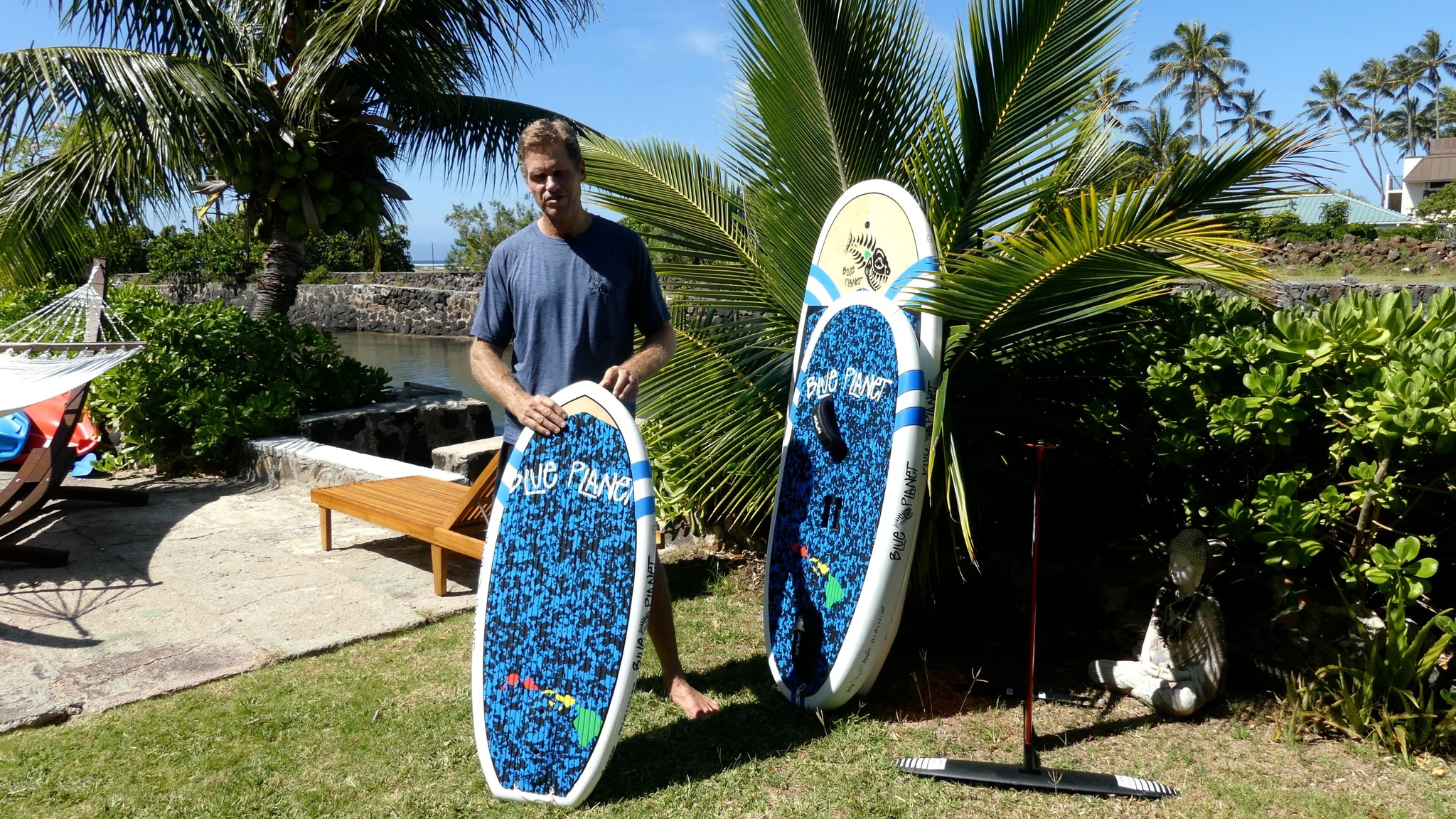 prone foil surf board