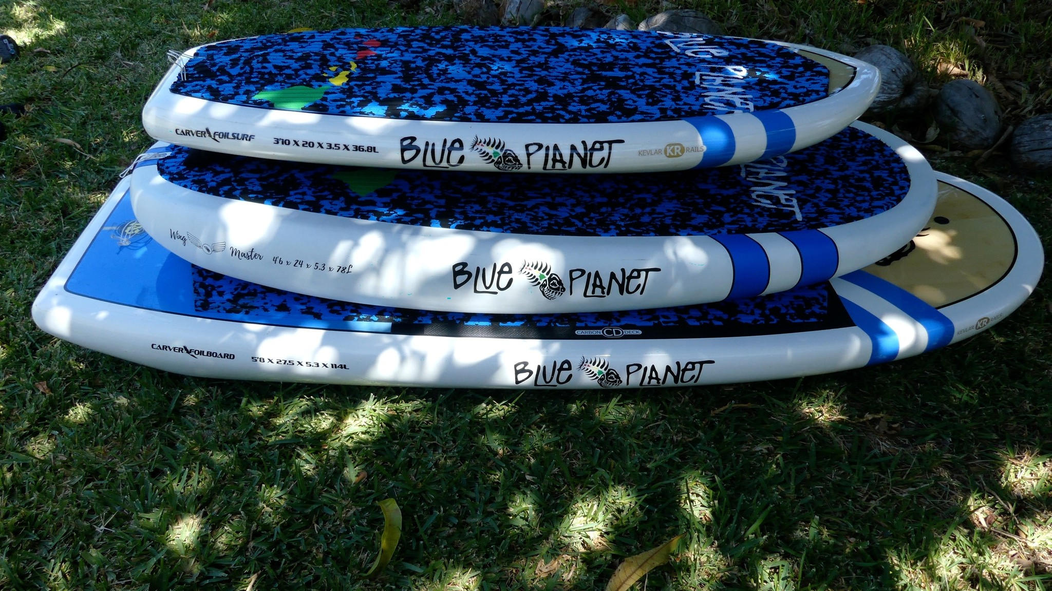 different foil boards for prone foil surfing, wing foil surfing, and SUP Foiling