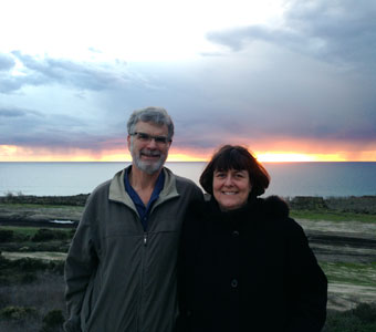 Tom & Barbara enjoying a California sunset.
