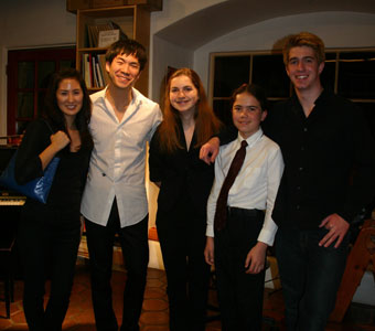 Richard O'Neill with viola masterclass participants at Metzler's on April 8, 2010.