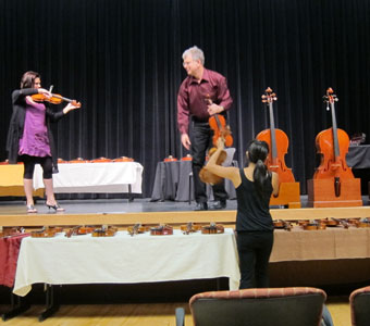 Metzler Violins brings Italian instruments to Las Vegas for an afternoon of tonal comparisons and sales.