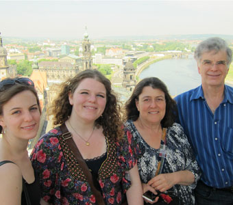 Metzler family greetings from Dresden .....