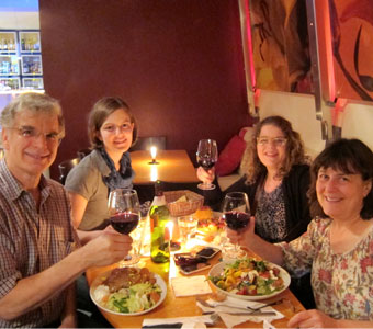 The Metzlers enjoying a dinner in Berlin, 2011.