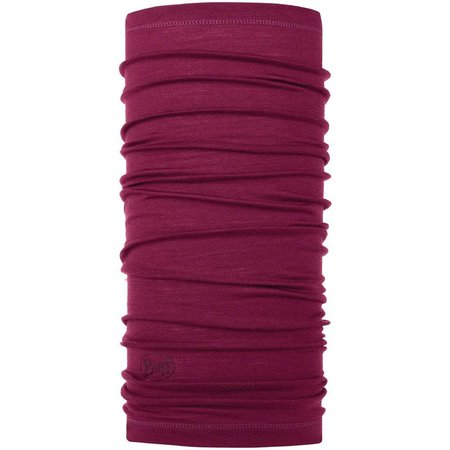 Lightweight Merino Wool Multifunctional Headwear: Purple Raspberry, One Size
