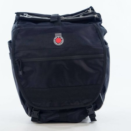 Waterproof Backpack Pannier: Black