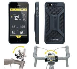 Weatherproof Ride case Iphone SE/5/5S W/ Mount, Black/Grey