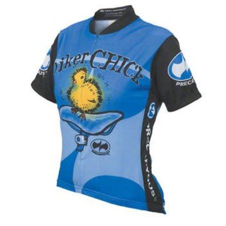 World Jerseys Women's Biker Chick Cycling Jersey Blue XL