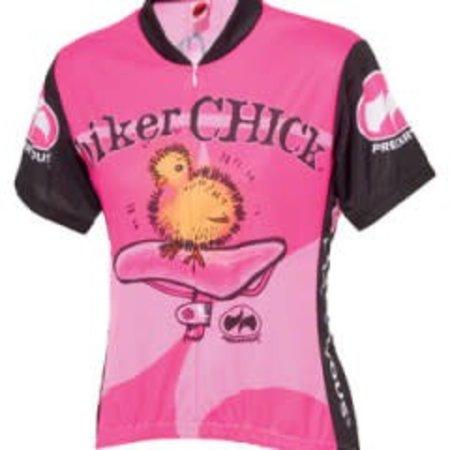 World Jerseys Women's Biker Chick Cycling Jersey Pink Lg