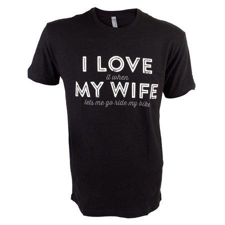 DHDWEAR I Love My Wife T-Shirt LG Black