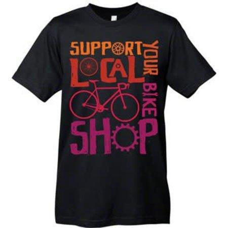Mechanical Threads Support Your Local Shop T-Shirt: Black~ XL