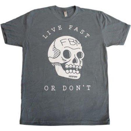 FBM Live Fast T-Shirt: Indigo Heather MED