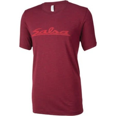 Salsa Logo Men's T-Shirt: Burgundy 2XL