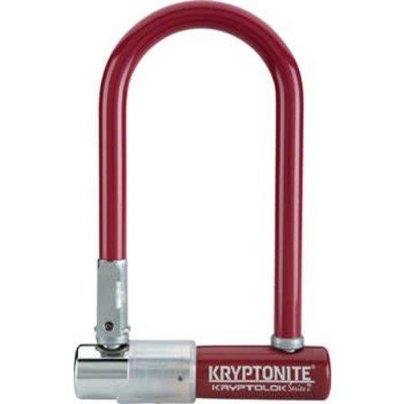 """Krypto series 2 mini-7 U Lock: 3.25 x 7"""" Maroon"""