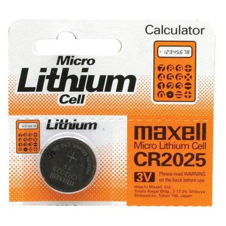 Battery, Micro, Lithium CR2025, 3V