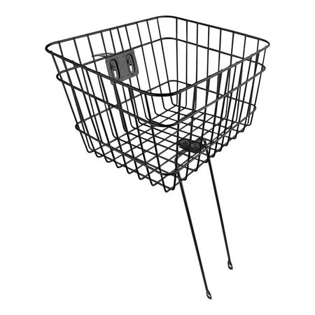 Large Basket Front Wire Fixed 14.5x12x9.5 Black HS-Mount w/leggs