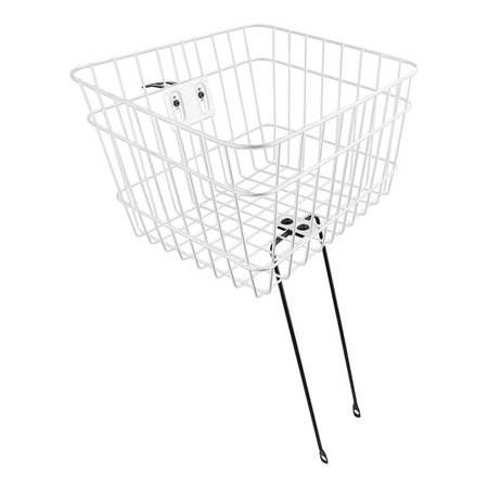 Front Wire Fixed 14.5x12x9.5 White HS-Mount Basket