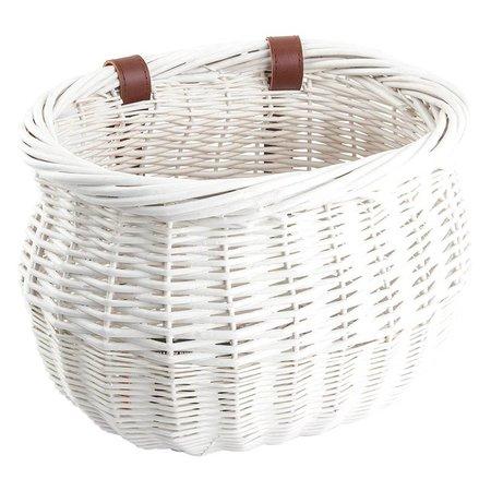 Willow Bushel Basket White