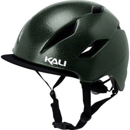 Danu Helmet: Solid Reflective Emerald Green