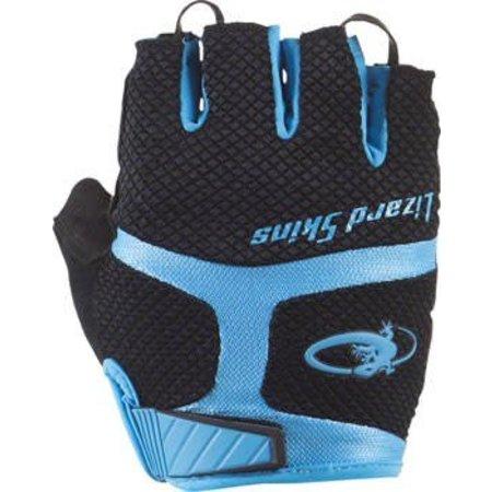 Aramus GC Gloves: Jet Black/Electric Blue
